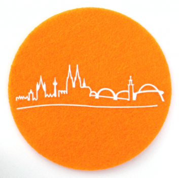 "Glasuntersetzer ""Skyline"" orange"