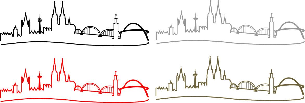 Autoaufkleber Kölner Skyline