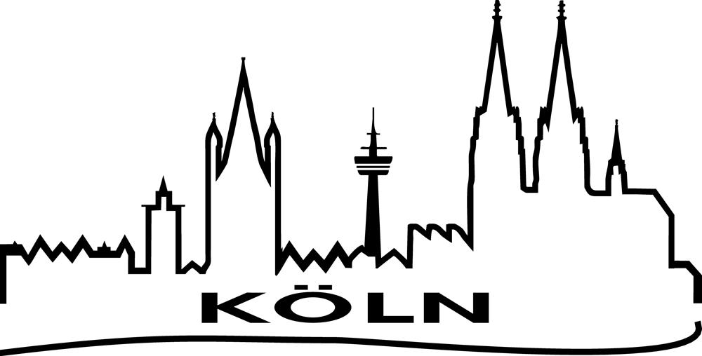 Autoaufkleber Skyline Köln Geschenkartikel