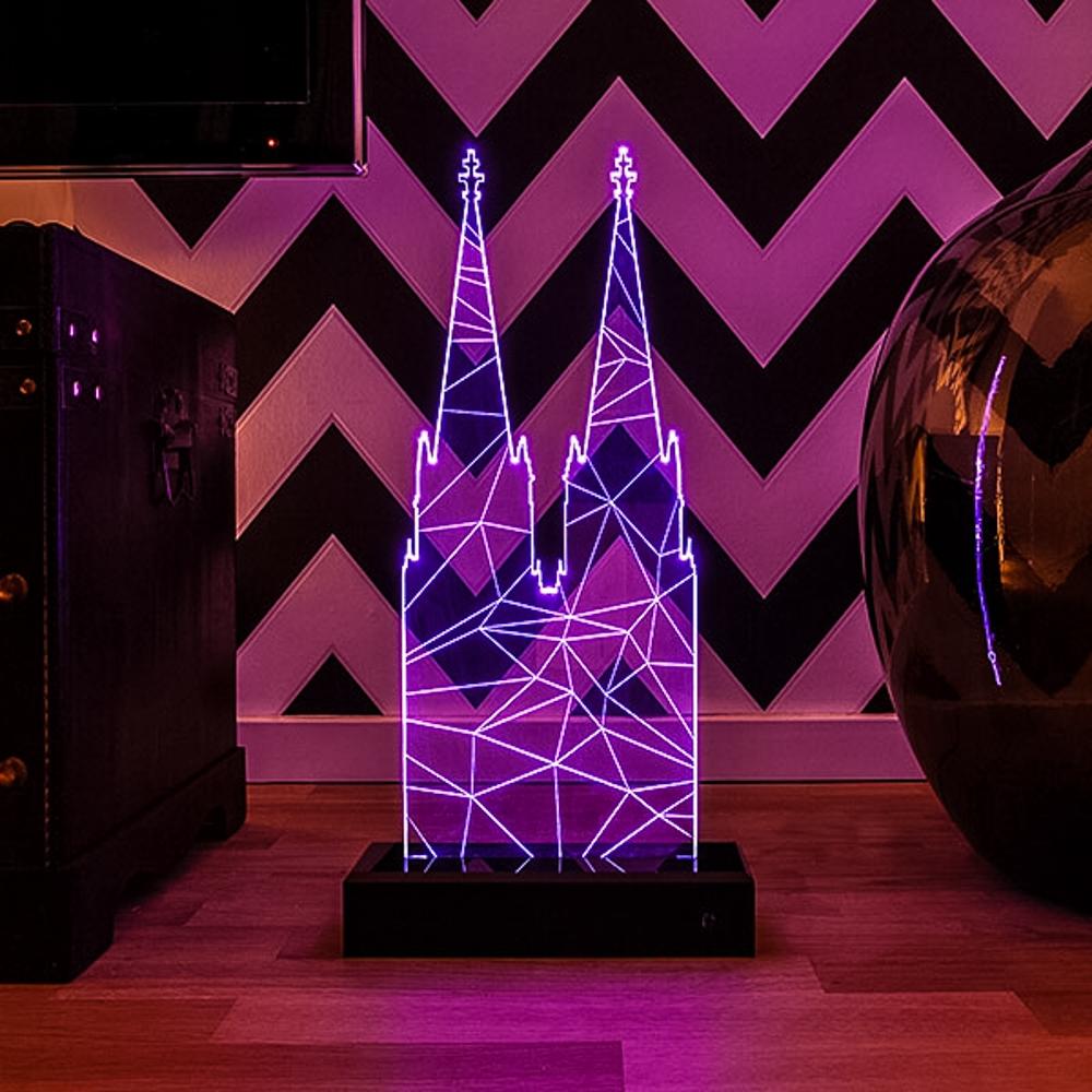 lumeedom polygon der k lner dom als led lampe. Black Bedroom Furniture Sets. Home Design Ideas